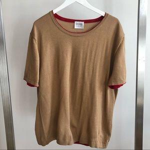 GIANFRANCO FERRE Vtg Beige Short Sleeve Sweater